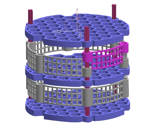 Design of 3m well-type furnace basket