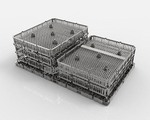 Heat-resistant steel basket