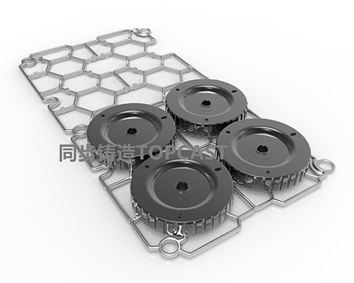 Heat-resistant steel tray